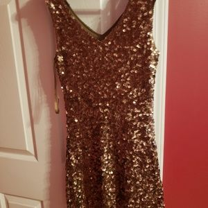 Dresses & Skirts - Bronze dressy dress